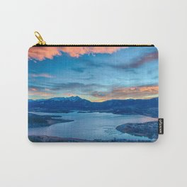 Lakeside Sunset // Mile High Rocky Mountain Orange and Blue Sky Carry-All Pouch