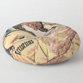 Vintage Art Nouveau expo Barcelona 1896 Floor Pillow