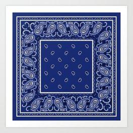 Classic Royal Blue Bandana Art Print