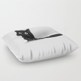 Sitting Cat (mono) Floor Pillow