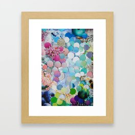 Blueberry Garden Framed Art Print