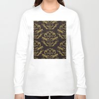 damask Long Sleeve T-shirts featuring Fox Damask by Azure Cricket