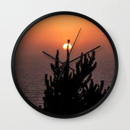 Sunset Pine Wall Clock