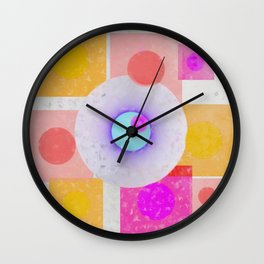 Multicolored abstract no. 67 Wall Clock