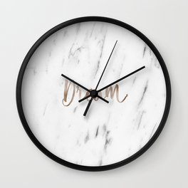 Rose gold marble dream Wall Clock