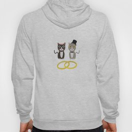 Wedding Cats with Rings Hoody