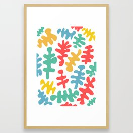 coral by the sea Framed Art Print