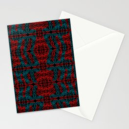 Demon Skin Red Teal Stationery Cards