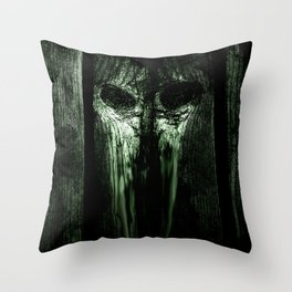 The Evil Woodboard  Throw Pillow