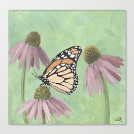 Monarch Butterfly Art, Orange Butterfly Painting Canvas Print