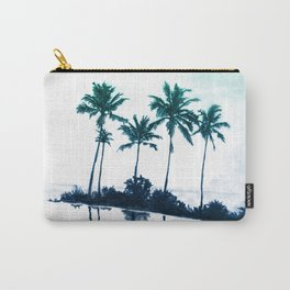 Palm Tree Reflections Teal Carry-All Pouch
