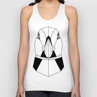 puffin Tank Tops featuring Polygon Puffin by Beard and Bones