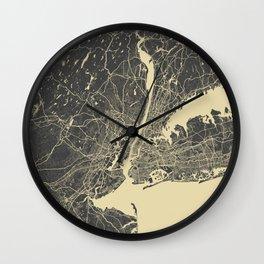 New York #2 Wall Clock