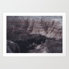 Badlands Mountains Art Print
