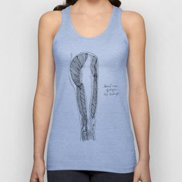 Lateral View of Right Hip & Thigh Unisex Tank Top