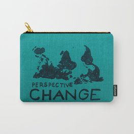 world map - perspective change Carry-All Pouch