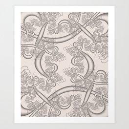 Bridal Blush Fractal Art Print