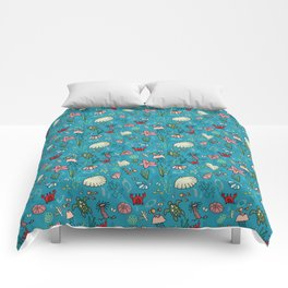 Beach and underwater pattern - fish and turtles and sea shells, oh my! Comforters