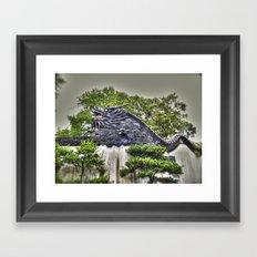 Dragon Rooftop Framed Art Print