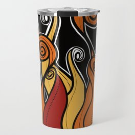 Flames on fire Travel Mug