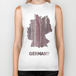 Germany map outline Deep Taupe watercolor Biker Tank