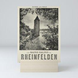 Les Bains salins de Rheinfelden oude poster Mini Art Print