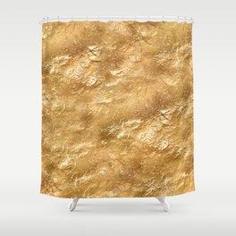 Golden foil Shower Curtain