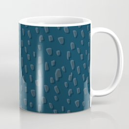 Flintstone // Pattern, Abstract, Organic, Teal, Green, Repeat Coffee Mug