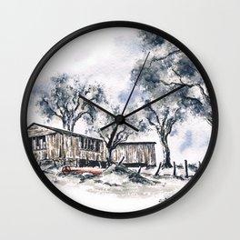 Rustic Bush Shack Wall Clock