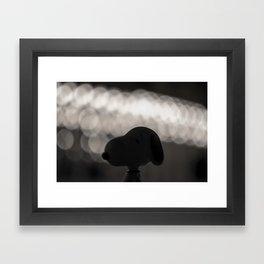 Snoopy Bokeh Framed Art Print