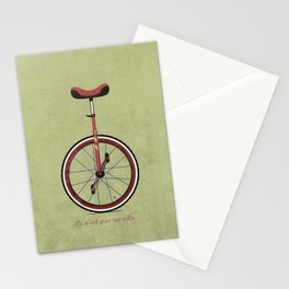 Unicycle Stationery Cards