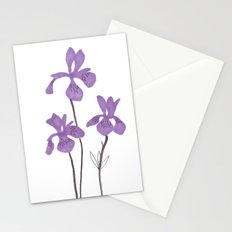 Iris Purple Flower Stationery Cards