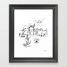 Dancing with me :) Framed Art Print