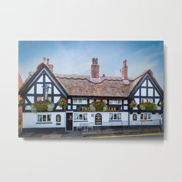 The White Bear Pub Knutsford Metal Print