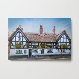 The White Bear Pub Knutsford Metal Print