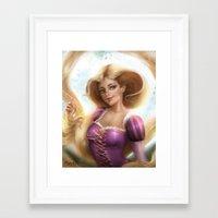 rapunzel Framed Art Prints featuring Rapunzel by ChrySsV