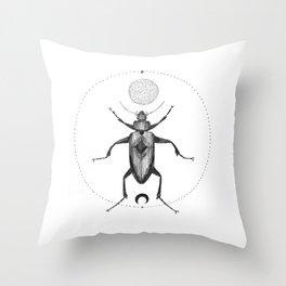 Moon Beetle Throw Pillow