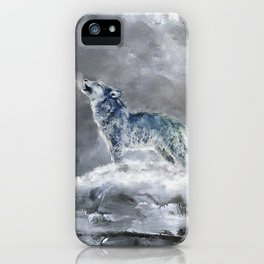 Blue Snow Wolf iPhone Case