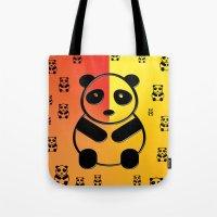 pandas Tote Bags featuring Pandas by Gaspar Avila
