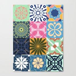 Middle Eastern Tiles - Geometric Pattern Canvas Print