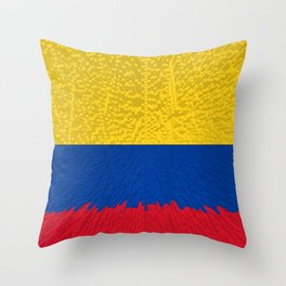 Extruded flag of Columbia Throw Pillow