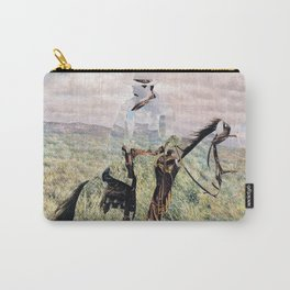 The Unknown Rider in Death Rides The Pecos Carry-All Pouch