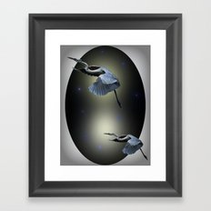 Heron Escape Framed Art Print