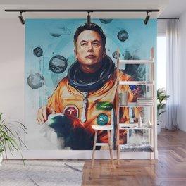 Astronaut Elon Musk Wall Mural