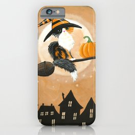 Little Calico Witch Cat Pumpkin Delivery iPhone Case
