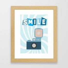 Smile (Retro Photo Camera) Framed Art Print