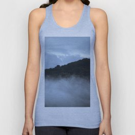 Hill between clouds and fog Unisex Tank Top