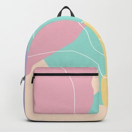 Modern minimal abstract geometric ice cream colors Backpack