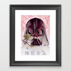 Yoda Slice Framed Art Print