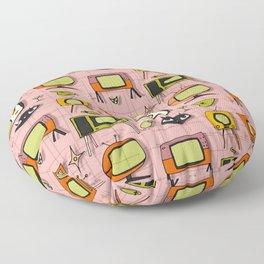 Retro Tv Pink #midcentury Floor Pillow